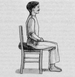 как правильно медитировать сидя на стуле