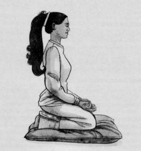как правильно медитировать сидя на коленях