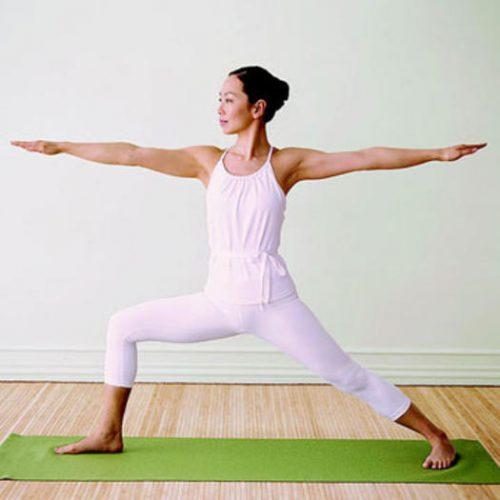 Йога для начинающих - поза воина