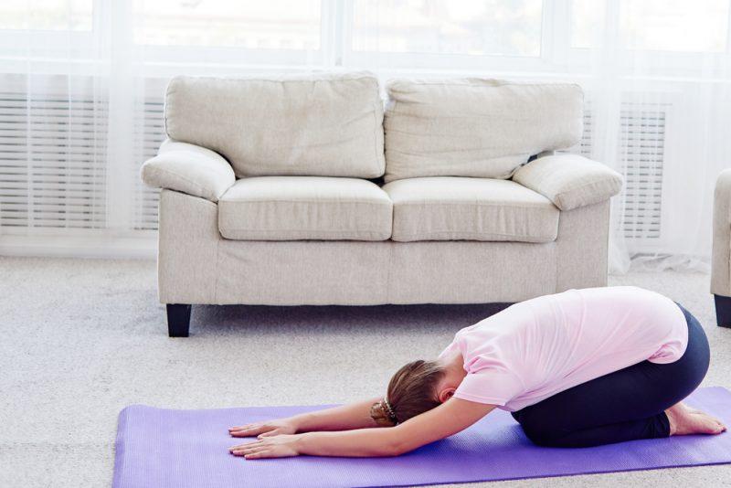Поза йоги - саламба баланасана
