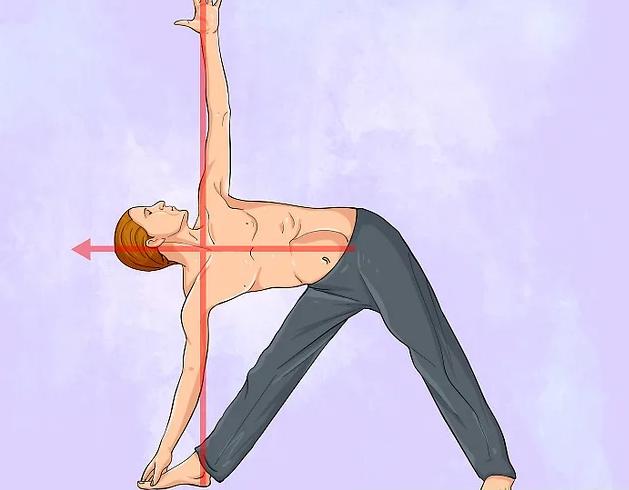 Убрать живот с помощью йоги - поза треугольника