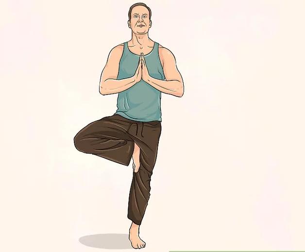 Йога для похудения живота - поза дерева