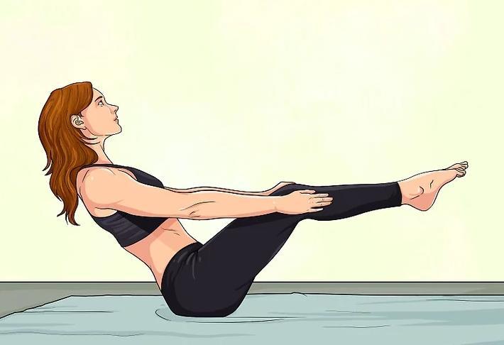 Йога для живота - упражнения - поза лодки