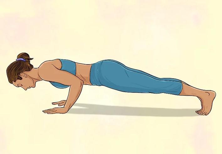 Йога для начинающих для живота - упражнение планка