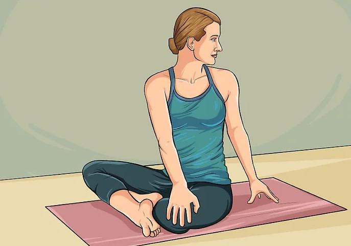 Йога для живота - скрутки