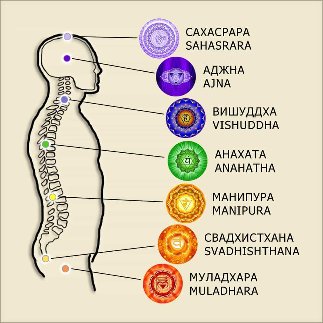 чакры в кундалини йоге